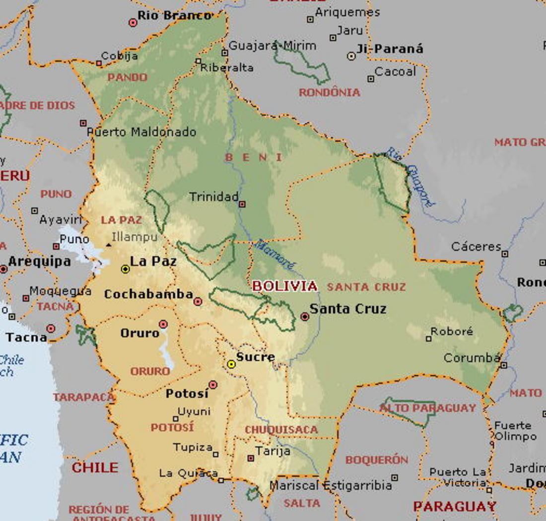 Of Bolivia - Map of bolivia